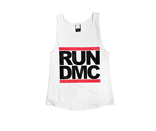 Amplified - Run DMC Damen Tank Top - Logo (Weiss) (S-L)