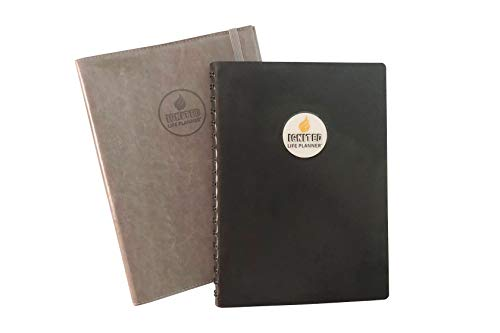 Ignited Life Planner - Spiral 7''x10'' Life Planner and Gratitude Journal (Grey Cover)  