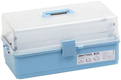 HLD アート学生スリーポータブルプラスチックツールボックス収納ボックス ツールボックス (Color : B)
