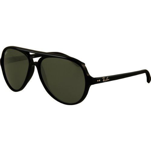 Ray-Ban RB4125 Cats 5000 Icons Sports Sunglasses/Eyewear - Glossy Black/G-15 XLT / Size (Ray Ban Rb4125 Cats)