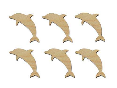 - Dolphin Cut Outs Unfinished Wood Sea Life Shapes 3
