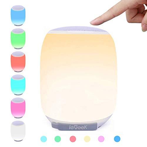 LED Bluetooth Speaker, ieGeek Portable W...