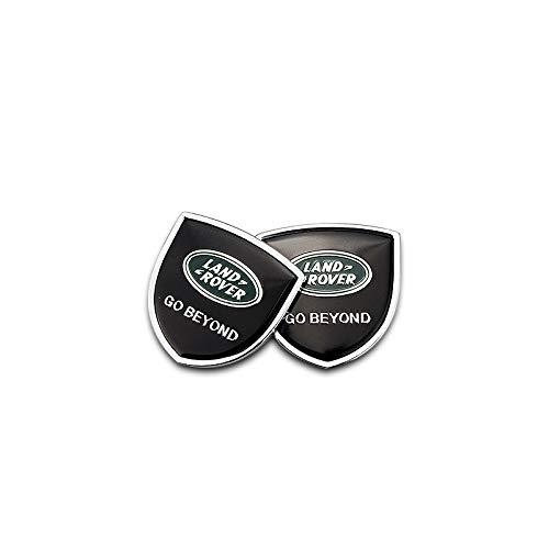 Zhmyyxgs 2 Pcs Shield Refit Logo Auto Car Rear Side Fender Stickers Metal Decorative Logo Emblems Badge Logo Accessories for Land Rover