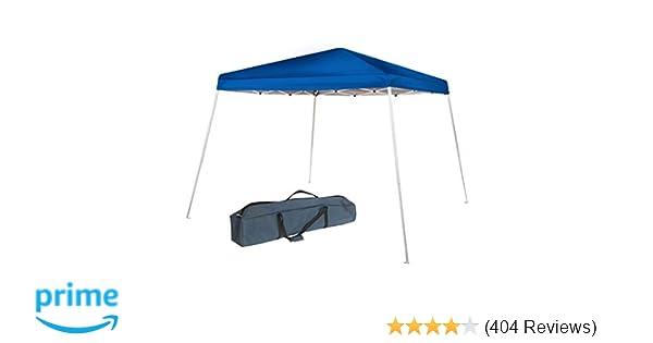 Abba Patio 8 x 8-Feet Slant Leg Instant Easy Pop Up Folding Canopy with  Carry Bag, Blue
