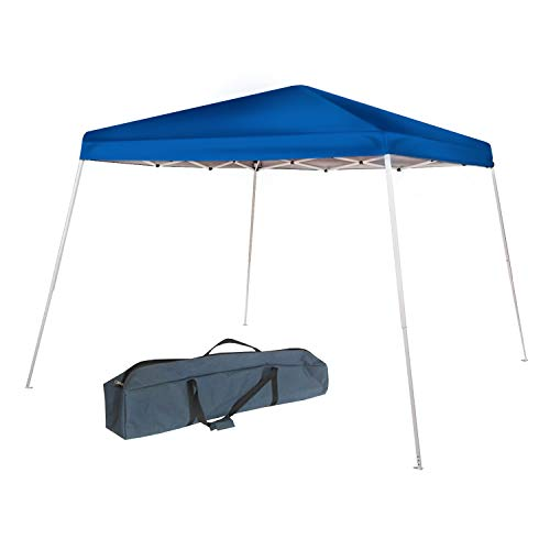 Abba Patio HIO Pop Up Canopy 10 x 10-Feet Slant Leg Instant Folding Canopy with Carry Bag, White