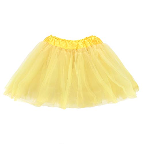 belababy Girl Skirts 3 Layers Organza Baby Tutu, Yellow, 2-8T]()