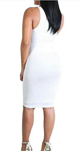 Vestito Donne Una Clubwear Jaycargogo Spalla 5 Midi Aderente Sexy Tagliato PTnpn6S