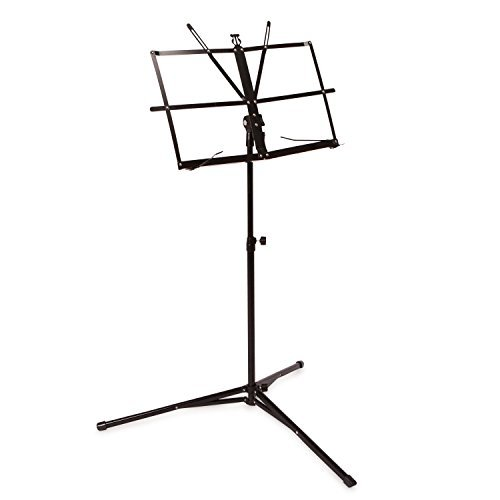Crafty Gizmos Black Adjustable Folding Music Stand with Carrying Bag by Crafty Gizmos (Image #1)