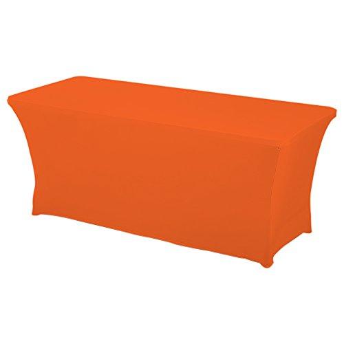 Orange Tablecloth - Haorui Rectangular Spandex Table Cover (6 ft. Orange)