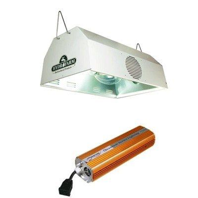 Hydrofarm Daystar Reflector & Quantum Dimmable Digital Ballast Grow Light System Combo 1000 Watt