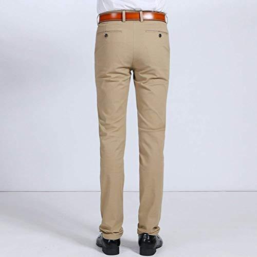 Poche Fuselé Pour Droit Bleu Hommes Mode Cordon Mince Décontracté Foncé Incliné Coton Pantalon TzwXgq5