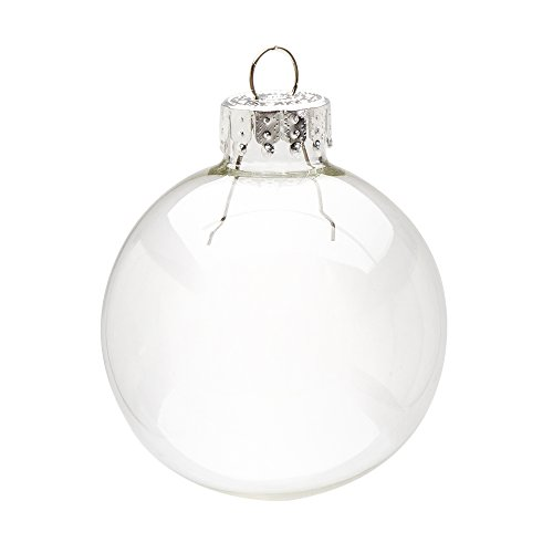 Darice Clear, Heavy Duty, Round Glass Balls - Removable Top - Can Be Painted, Embellished and Filled - Make Customized Holiday Ornaments - Perfect for Crafting and Winter Décor, 50mm (10 Pieces)