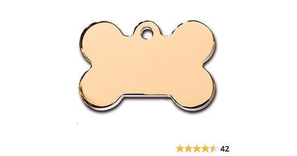 Personalized Pet ID Aluminum Bone Shape White wood distressed pet tag