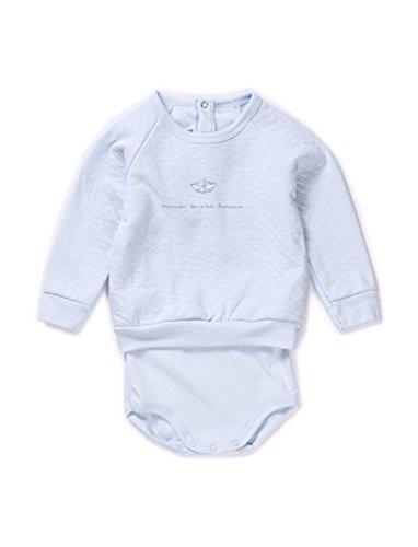 - Petit Bateau Baby Bodysuit Sabida 14158 (3 Months ( 60 cm ), Blue)