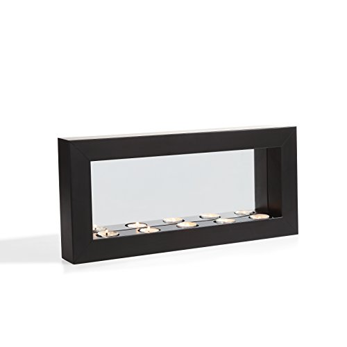 Rectangular Candle Sconce - Danya B. Horizontal Mirror Tealight Candle Sconce with Metal Frame