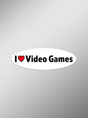 I Love Video Games Vinyl Decals Stickers (Two Pack) | Cars Trucks Vans Windows Walls Laptop Cups | Printed | 2-5.5 Inch Decals | KCD1384