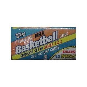 2 Series Basketball Box Card - Topps 1992-93 NBA Basketball Cards Complete Set Series 1 & 2