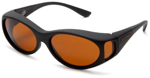 Cocoons Low Vision C602S  Streamline Sunglasses,Black Frame/Hazelnut,one size (Streamline Polarized Sunglasses)