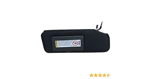 Corvette Sunvisor Left Black With Lighted Vanity Mirror Ecklers Premier Quality Products 25-155977