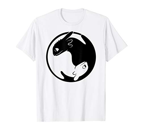 (How to Train Your Dragon 3 Hidden World Dragon Yin Yang T-Shirt)