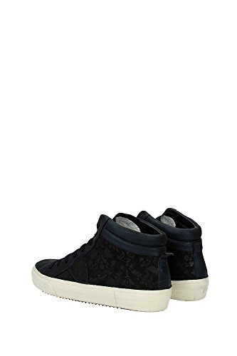 Negro Negro Gamuza Mujer MDHDLC03 Philippe Model Sneakers fnw8xqn0aT