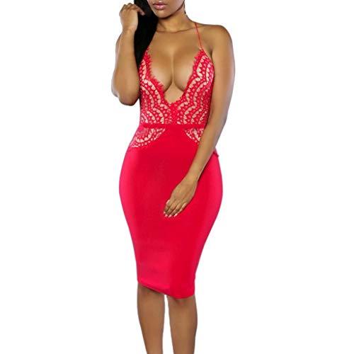 ZSBAYU Women's Deep V-Neck Stripe Wild Slim Tight Fitting Sleeveless Sling Camisole Casual Lace Wrap Mini -