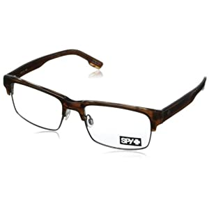 Spy Sullivan Rectangular Eyeglasses,Sepia,53 mm