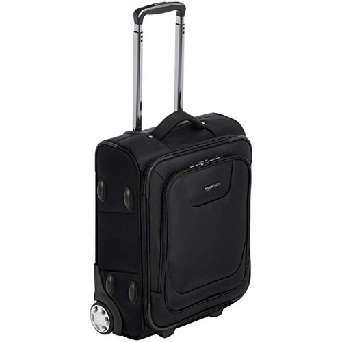 AmazonBasics Expandable Softside Carry-On Luggage Suitcase With TSA Lock And Wheels - 21 Inch, Black (Best Lightweight Luggage Uk)
