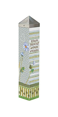 Studio M Pawprints on My Heart Art Pole Pet Memorial Bereavement Outdoor Decorative Garden Post, Made in USA, 20 Inches Tall
