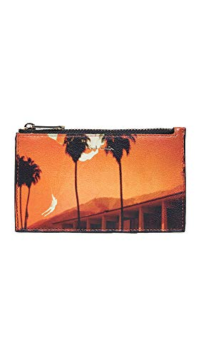 - Paul Smith Men's Photo Print Zip Card Case, Orange Print, One Size