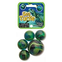 Glass Mega Marbles Sea Turtle Game Net Set (25 Piece)