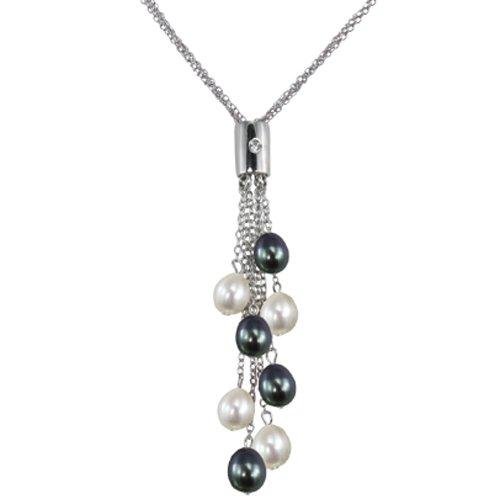 Black & White Cultured Pearl M