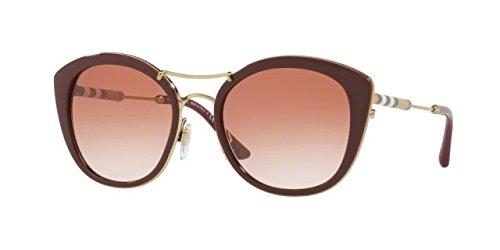 Burberry Be4251q 340313 Bordeaux Be4251q Round Sunglasses Lens Category 2 Size