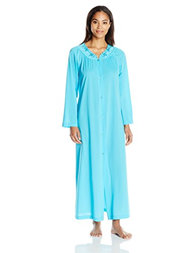 Shadowline Women's Petals 54 inch Sleeve Long Coat, Turquoise, Medium