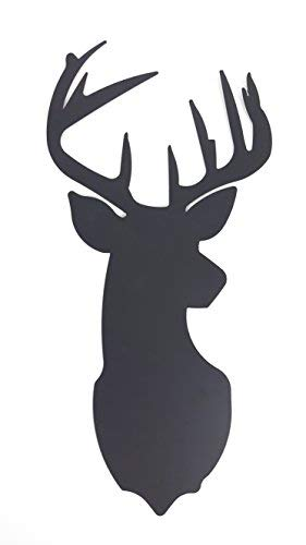 Deer Head Metal Silhouette