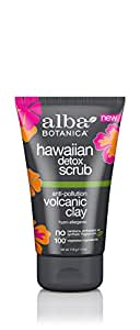 Alba Botanica Hawaiian Detox Scrub, Anti-Pollution Volcanic Clay, 4 Ounce
