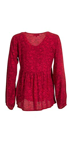 Blouse Manches Coline Longues Ample Framboise 6Zxxdnw