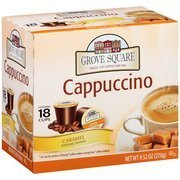 Grove Square Caramel Single Cup Cappuccino Mix, 18 count, 9.52 oz(Case of 2) by Grove