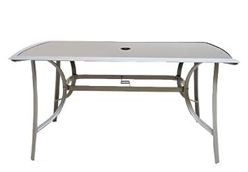 Gartentisch alu glas  Amazon.de: Aluminium Gartentisch Glasplatte Alu Glas Tisch schwarz ...