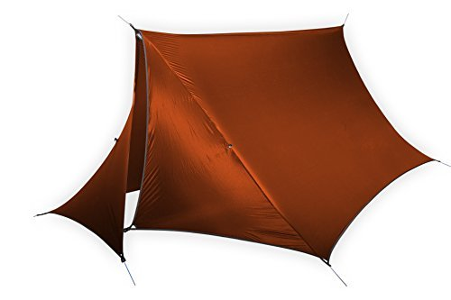 ENO - Eagles Nest Outfitters HouseFly Rain Tarp, Ultralight Camping Tarp, Amber by ENO