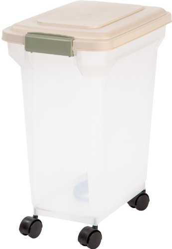 IRIS Premium Airtight Pet Food Storage Container, 22-Pounds,  Almond from IRIS USA, Inc.