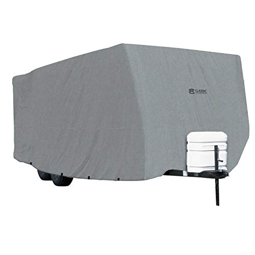 Classic Accessories OverDrive PolyPRO 1 Travel Trailer RV Cover, Fits 33' - 35' RVs - Breathable and Water Repellant Travel Trailer Cover (80-214-201001-00)