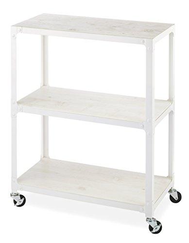 Whitmor 3-Tier Metal & Wood Cart-White