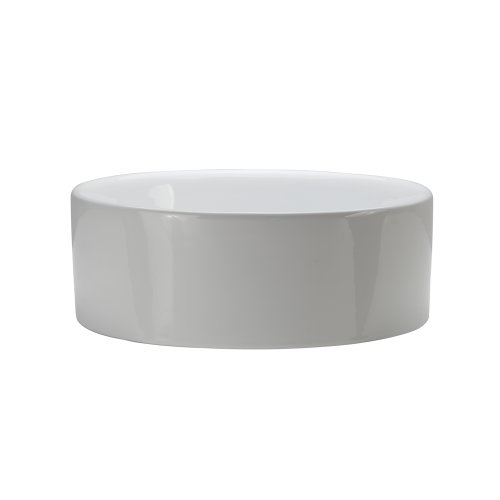 (DECOLAV 1458-CWH Senna Classically Redefined Round Vitreous China Above-Counter Lavatory Sink, White)