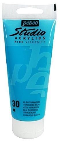 PEBEO Studio Acrylics High Viscosity, Fine Acrylic, 100 ml - Turquoise Blue