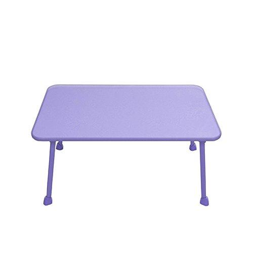 GFL Foldable Notebook Computer Desk Length 59cm Width 39cm Height 29cm Computer Tables (Color : Purple) by GFL