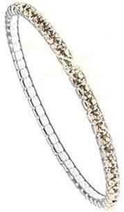 Swarovski Pulsera para Mujeres - Brazalete elástico Elements, rodiado, sin niquel, l 17.80 cm, PP32; LT. Silk F (261)