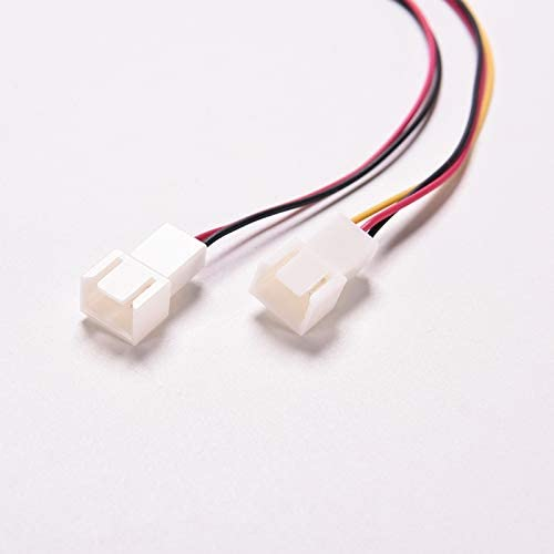 Cable Length: 1PC Cables /& Connectors 3 Pin PC Computer Case CPU Dual Fan Power Extension Cable Y Splitter 1 Female to 2 Male Motherboard PSU Cable Connector 15cm