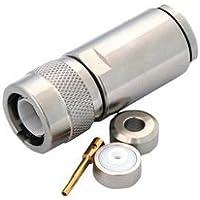 RF / Coaxial Connector, Twinaxial, Straight Plug, Crimp, TRC-50-2, TRC-75-2, Brass