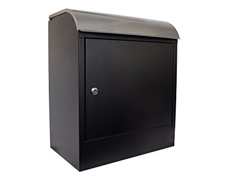 Extra Large Wall Mount (Qualarc WF-PB018 Selma Wall Mount Locking Mail and Parcel Box, Black/Silver)